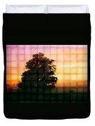 Sunset Grid 2 Duvet Cover