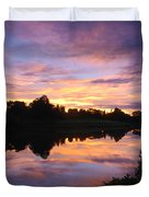 Sunset II At Japanese Garden Duvet Cover