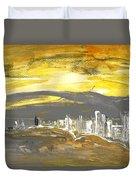 Sunset In Benidorm Duvet Cover