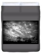 Sunset In Black And White Duvet Cover