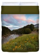 Sunset In Cobb Valley Of Kahurangi Np Of New Zealand Duvet Cover