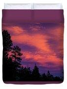 Sunset In Colorado Duvet Cover