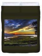 Sunset In Delaware Duvet Cover