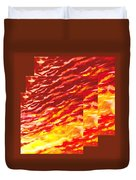 Sunset In Desert Abstract Collage  Duvet Cover