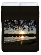 Sunset In Florida Duvet Cover