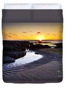 Sunset In Iceland Duvet Cover