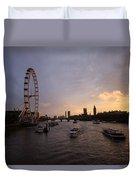 Sunset In London Duvet Cover