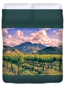 Sunset In Napa Valley Duvet Cover