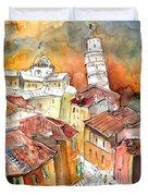Sunset In Pisa Duvet Cover