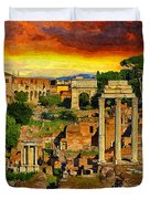 Sunset In Rome Duvet Cover