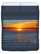 Sunset In San Clemente Duvet Cover