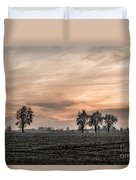 Sunset In The Country - Orange Duvet Cover