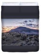 Sunset In The Davis Mountains Duvet Cover