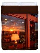 Sunset In The Lobby Duvet Cover