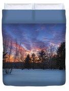 Sunset In The Park Duvet Cover