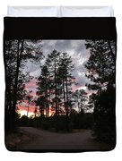 Sunset In The Pines Duvet Cover
