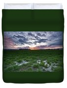 Sunset In The Swamp Duvet Cover