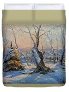 Sunset In The Winter Duvet Cover