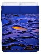 Sunset In Tide Pools Duvet Cover