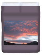 Sunset In Vail Colorado Duvet Cover