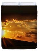 Sunset In Vernon County Duvet Cover