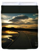 Sunset In Yellow Stone Duvet Cover