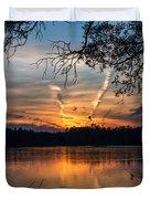 Sunset Lake Horicon Lakehurst New Jersey Duvet Cover
