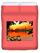 Sunset Leaves Duvet Cover
