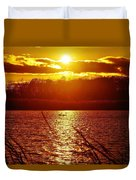 Sunset Love At Crosswinds Duvet Cover