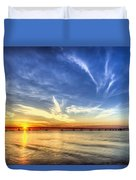 Sunset Mackinac Bridge Duvet Cover