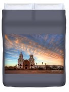 Sunset Majesty Mission San Xavier Del Bac Duvet Cover