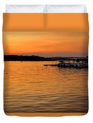 Sunset Marina Duvet Cover