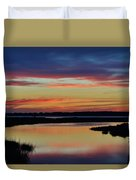 Sunset Marsh Duvet Cover