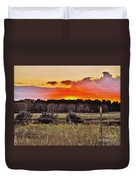 Sunset Meadow Duvet Cover