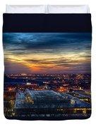 Sunset Metro Lights And Splendor Duvet Cover