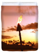 Sunset Napili Maui Hawaii Duvet Cover