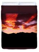 Bitterroot Sunset Duvet Cover
