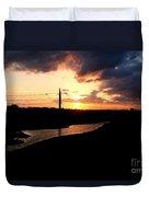 Sunset Of The Trinity River Duvet Cover