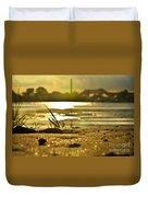 Sunset On A Sandy Beach Duvet Cover