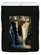Sunset On A Waterfall Duvet Cover