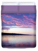 Sunset On Cayuga Lake Cornell Sailing Center Ithaca New York Duvet Cover