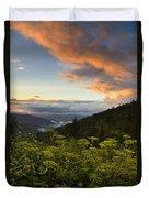 Sunset On Clingman's Dome Duvet Cover