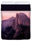 Sunset On Half Dome As Seen Duvet Cover