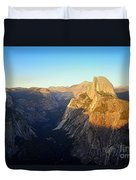 Sunset On Half Dome In Yosemite Duvet Cover