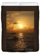 Sunset Over Key West Duvet Cover