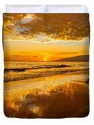 Sunset On Lahaina Duvet Cover