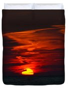 Sunset On Lake Michigan Duvet Cover