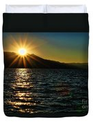 Sunset On Lake Tahoe By Diana Sainz Duvet Cover
