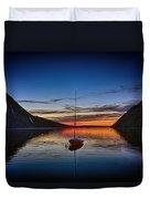 Sunset On Lake Willoughby Duvet Cover
