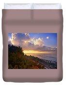 Sunset On Little Cayman Duvet Cover